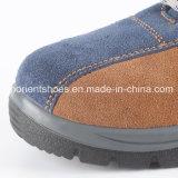 O solado de PU em couro Calçado de segurança com a convergência de aço e chapa de aço