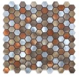 Mosaico novo do metal do hexágono 2017