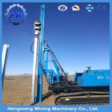 太陽エネルギー端末Cの形の山はクローラータイプガードレールの杭打ち機を取付けた