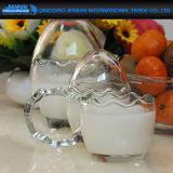 Бутылка милого пудинга формы яичка стеклянная для десерта