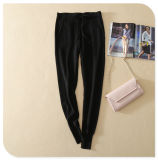Pure Cashmere Tricô Calça casual com bolsos e banda cintura elástica para Senhoras
