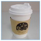Copos de café em papel 12 oz 16 oz com tampas e mangas