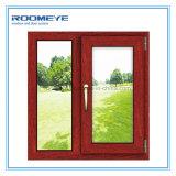 이중 유리를 끼우기를 가진 Roomeye 알루미늄 합성 목제 여닫이 창 Windows