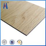 El panel de madera de la decoración de la pared de la construcción de edificios