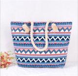 熱い販売の偶然の幾何学的な図ハンドバッグのキャンバス袋