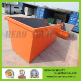 8m Orange Outdoor Skip Bin pas de porte