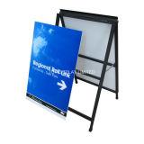 "Fábrica Atacado Corflute Insertable Snap a Frame Sandwich Boards Portable Sidewalk Sign Publicidade Euipment Portable 24 ""X36"" Display Stand Metal Poster Frame"