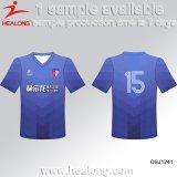 Healong販売のための最も新しいデザインスポーツ・ウェアの熱伝達の印刷の男子フットボールのワイシャツ