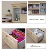 Meubles de cuisine d'enveloppe de vinyle de Modules de cuisine de PVC de modèle moderne (zc-045)