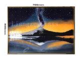 Pintura de decoração em Vidro Temperado com embarcações Cloisonne