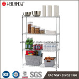 Supreme DIY 4 Camadas Home Kitchen Storage Chrome Steel Wire Shelf Rack