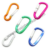 Parafuso de alumínio metálico Mosquetão Trava Key Ring