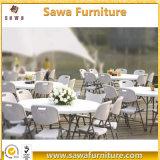 Gaststätte, die im Freien faltenden Picknick-Plastiktisch und Stuhl Wedding ist