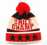Sombrero hecho punto sombrero de la gorrita tejida del telar jacquar del sombrero de la gorrita tejida del sombrero POM POM del invierno
