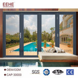 Balcón de último diseño de vidrio puerta plegable de aluminio