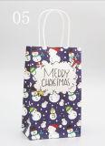 Bolso de empaquetado más barato de encargo del regalo del papel de imprenta con las cuerdas