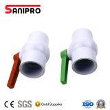 Soupape de PVC de robinet à tournant sphérique de PVC de best-seller pour l'irrigation