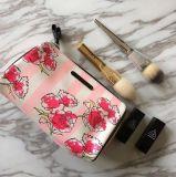 Мешок Striped цветком женщин высокого качества мешка тавра косметических водоустойчивый перемещения Toiletry Necessaire составляет мешки