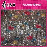 Новая ткань Sequin вышивки цветка оптовой продажи способа