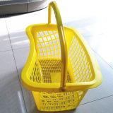 円形新しいデザインはハンドルの美しいプラスチック買物かごを選抜する