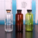 [700مل] لون كهرمانيّة [رجنت بوتّل] زجاجيّة مع [غلسّ ستوبّر] لأنّ مختبرة صيدلانيّة إستعمال كيميائيّة