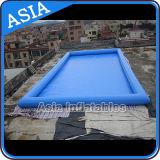 бассеин брезента PVC 0.6mm большой раздувной, бассеин голубой квадратной формы раздувной для ренты