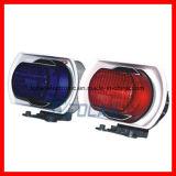 경찰 기관자전차를 위한 경고 신호등과 사이렌 경보 스피커