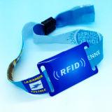 MIFARE klassische 1K intelligente Satin Auslese gesponnenes RFID Wristbandarmband