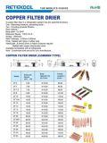 Secador de cobre do filtro