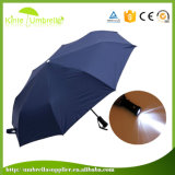 Ouverture de la sécurité parapluie Parapluie cadeau portable avec LED