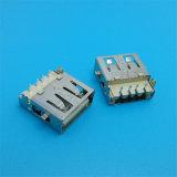 Abgeschirmter Plastikkern, der 90 Grad 2.0 USB-Kontaktbuchse verdickt