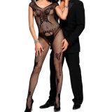 Sexy женщин черная бабочка Accent Fishnet Bodystocking белье