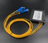 Red inalámbrica para el divisor de fibra óptica del rectángulo plástico del PLC 1X4 para los sistemas de CATV