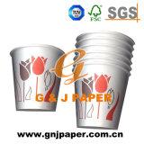 4-24販売のためのOzの単一側面のPEによって塗られる飲む紙コップ