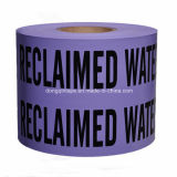 Purpurrotes zurückgefordertes Wasser PET warnendes Band