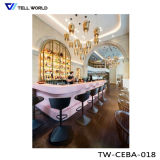 現代喫茶店棒家具LEDは棒カウンターを飾った
