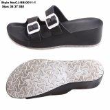 Haute qualité TPR + Semelle EVA Femmes pantoufles de filtre en coin