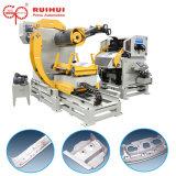 Ligne alimentante automatique de machine et de presse de câble d'alimentation de Decoiler de redresseur de feuille de bobine