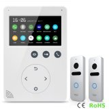 Mémoire intercom visuel de téléphone de porte de sonnette de garantie à la maison de 4.3 pouces