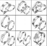 Продажа на заказ ювелирных изделий моды кристально чистый палец кольцо