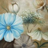Окраска цветов - полотно на стену с помощью Блестящие цветные лаки