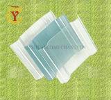 Folha de metal corrugado de plástico reforçado com fibra de vidro painel solar de resina