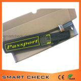 Detetor de metais à mão do detetor de metais da segurança do defensor do passaporte