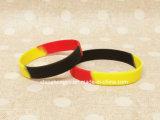 Wristband di gomma del silicone della fascia del braccialetto del braccialetto ispiratore impresso braccialetto di gioco del calcio