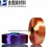 진한 액체에 의하여 염색되는 폴리에스테 털실 FDY 150d/144f 최고 과료 부인자 Multifilament 털실