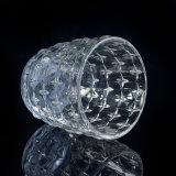 Sostenedores de vela de cristal votivos claros grabados estrella para la fragancia casera