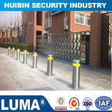 Bollard en acier inoxydable de la sécurité routière pour les panneaux de signalisation