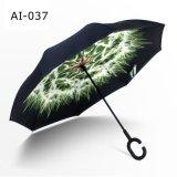 Parapluie droit renversé manuel de promotion de véhicules de traitement de forme de C