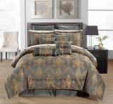 Boda de Jacquard consolador cubrir conjunto de ropa de cama de diseño en 3D.