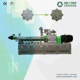 Máquina de granulagem da extrusora plástica européia do parafuso do gêmeo do projeto para frascos do animal de estimação